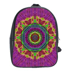 Mandala In Heavy Metal Lace And Forks School Bag (xl)