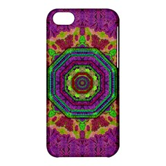 Mandala In Heavy Metal Lace And Forks Apple Iphone 5c Hardshell Case