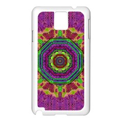 Mandala In Heavy Metal Lace And Forks Samsung Galaxy Note 3 N9005 Case (white)