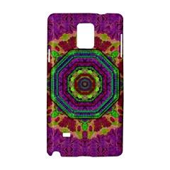Mandala In Heavy Metal Lace And Forks Samsung Galaxy Note 4 Hardshell Case