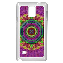 Mandala In Heavy Metal Lace And Forks Samsung Galaxy Note 4 Case (white)