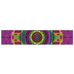 Mandala In Heavy Metal Lace And Forks Small Flano Scarf