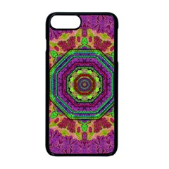 Mandala In Heavy Metal Lace And Forks Apple Iphone 8 Plus Seamless Case (black)