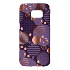 Random Polka Dots, Fun, Colorful, Pattern,xmas,happy,joy,modern,trendy,beautiful,pink,purple,metallic,glam, Samsung Galaxy S7 Edge Hardshell Case