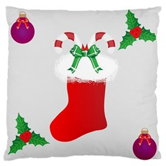Christmas Stocking Large Flano Cushion Case (two Sides)