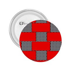 Black And White Red Patterns 2 25  Buttons