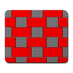 Black And White Red Patterns Large Mousepads
