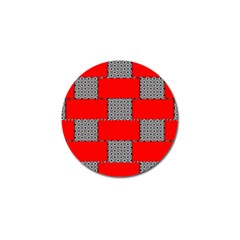 Black And White Red Patterns Golf Ball Marker