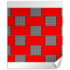 Black And White Red Patterns Canvas 16  X 20