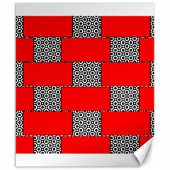 Black And White Red Patterns Canvas 20  X 24