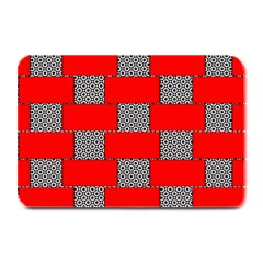 Black And White Red Patterns Plate Mats
