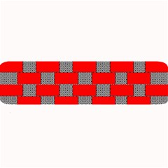 Black And White Red Patterns Large Bar Mats