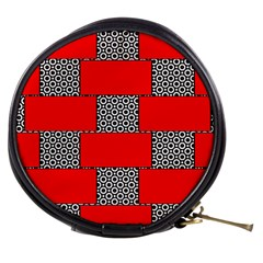 Black And White Red Patterns Mini Makeup Bags