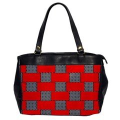 Black And White Red Patterns Office Handbags