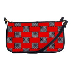 Black And White Red Patterns Shoulder Clutch Bags