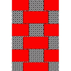 Black And White Red Patterns 5 5  X 8 5  Notebooks