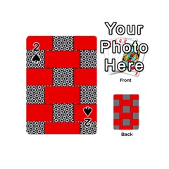 Black And White Red Patterns Playing Cards 54 (mini)