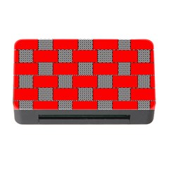Black And White Red Patterns Memory Card Reader With Cf