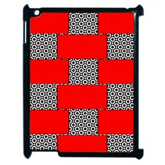 Black And White Red Patterns Apple Ipad 2 Case (black)