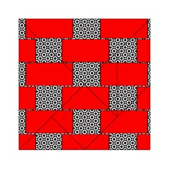 Black And White Red Patterns Acrylic Tangram Puzzle (6  X 6 )