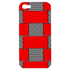 Black And White Red Patterns Apple Iphone 5 Hardshell Case
