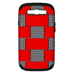 Black And White Red Patterns Samsung Galaxy S Iii Hardshell Case (pc+silicone)