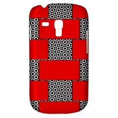 Black And White Red Patterns Galaxy S3 Mini
