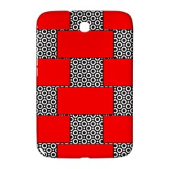 Black And White Red Patterns Samsung Galaxy Note 8 0 N5100 Hardshell Case