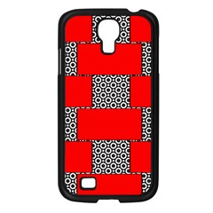 Black And White Red Patterns Samsung Galaxy S4 I9500/ I9505 Case (black)