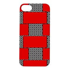 Black And White Red Patterns Apple Iphone 5s/ Se Hardshell Case