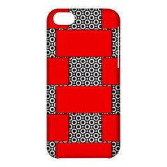 Black And White Red Patterns Apple Iphone 5c Hardshell Case
