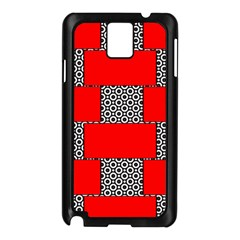 Black And White Red Patterns Samsung Galaxy Note 3 N9005 Case (black)