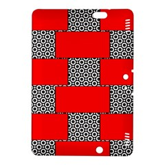 Black And White Red Patterns Kindle Fire Hdx 8 9  Hardshell Case