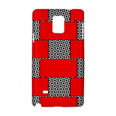 Black And White Red Patterns Samsung Galaxy Note 4 Hardshell Case