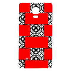 Black And White Red Patterns Galaxy Note 4 Back Case