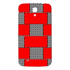 Black And White Red Patterns Samsung Galaxy Mega I9200 Hardshell Back Case