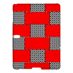 Black And White Red Patterns Samsung Galaxy Tab S (10 5 ) Hardshell Case
