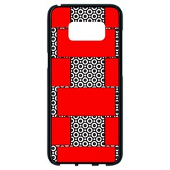 Black And White Red Patterns Samsung Galaxy S8 Black Seamless Case