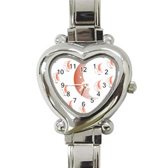 Moon Moonface Pattern Outlines Heart Italian Charm Watch