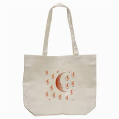 Moon Moonface Pattern Outlines Tote Bag (cream)