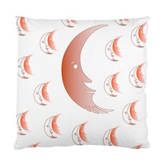 Moon Moonface Pattern Outlines Standard Cushion Case (one Side)