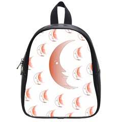 Moon Moonface Pattern Outlines School Bag (small)