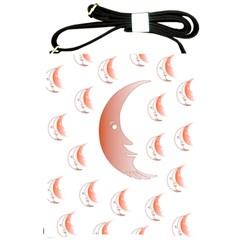 Moon Moonface Pattern Outlines Shoulder Sling Bags