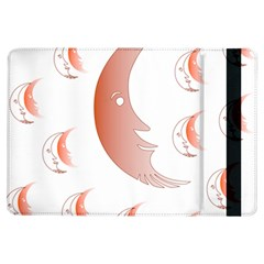 Moon Moonface Pattern Outlines Ipad Air Flip