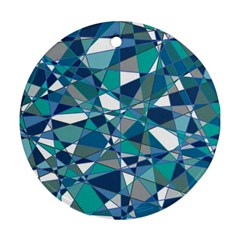 Abstract Background Blue Teal Ornament (round)