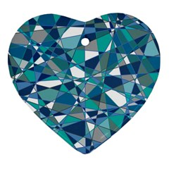 Abstract Background Blue Teal Ornament (heart)
