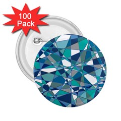 Abstract Background Blue Teal 2 25  Buttons (100 Pack)