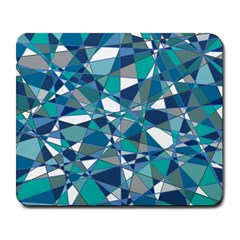 Abstract Background Blue Teal Large Mousepads