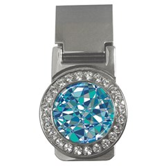 Abstract Background Blue Teal Money Clips (cz)