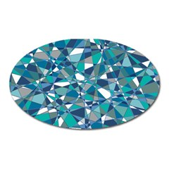 Abstract Background Blue Teal Oval Magnet